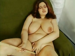 AlotPorn - Fat chubby girl playing with stick