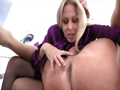 Julia ann fucking a guy up the ass
