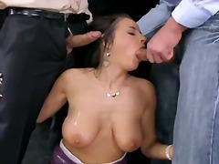 Pornoid - Busty candy alexa gets her ass boned in threesome