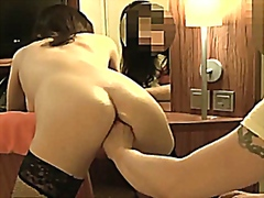 Vporn - Brutally fisting her asshole and vagina