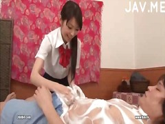 Try a hot massage from a pretty girl