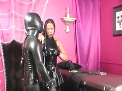 Latex fetish black woman