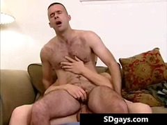 - Sexy gay stud takes monster cock up the tight hairy butthole