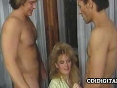 Lynn lemay busty blondie fucked by tw...