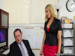 Amber ashlee takes cock in the office...