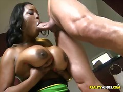 Marco banderas is happy to meet chocolate skinned big beautiful woman melissa reed