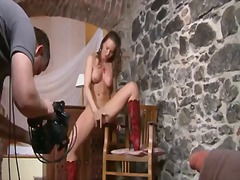 Silvia saint opens her legs to fuck h...