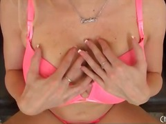 Alpha Porno - Blonde with big fake tits is a tasty solo tease