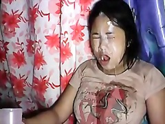 Private Home Clips - sexy floozy thai bar girl huge smutty on web camera