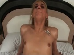 Cute tranny with dick in her asshole