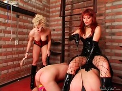 Painful cbt and spanking for two sub ...