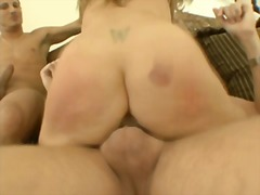 Aline is dped and pumped full of cum
