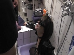Wife gangbanged and pissed on in dece...