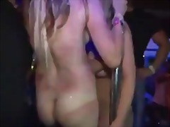 Real amateur strip naked in public du...