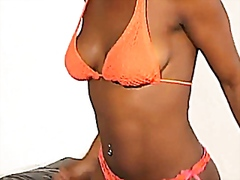 African girl amateur strip and anal f...