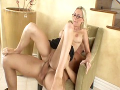 Hard anal lessons for one pretty secr...