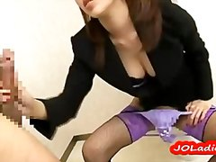 Redtube - Horny office lady sucking cocks fucked by 2
