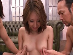 Perky tits of japanese girl groped by...