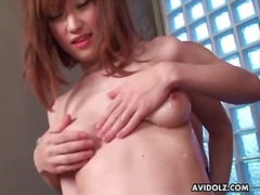 Small japanese tits oiled up and groped