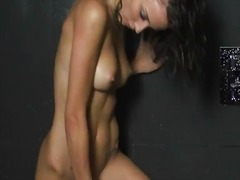 Small tits, toys and a hot shower