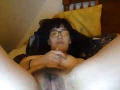 Xhamster - Asian with hairy pussy and big natural tits plays solo