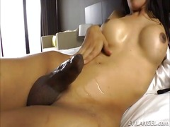 Asian shemale nat is naughty and horny