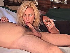 Xhamster - Hot blonde cougar in boots stogie smoking sex