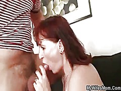 He fucks her old mother