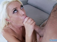 Vporn - Big titted Summer Brielle gags on dick
