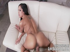 Busty whore moms getting fucked in interactive porn