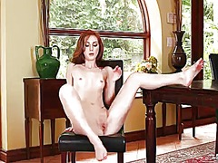 Wetplace - Natalie lust with small tities and bald twat gives a closeup of her vagina as she masturbates