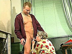 Xhamster - Grannie x young man-business meeting turns into sex