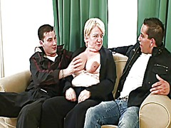 Xhamster - Two friends pick up and fuck boozed granny