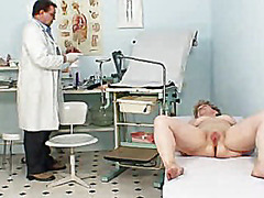 H2porn - Busty grandmother ruzena visits gyno fetish clinic