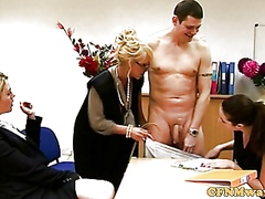 Vporn - Tough FEMDOM CFNM matures wanking guy