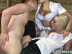 Vporn - Victoria summers loves CFNM threeway fun