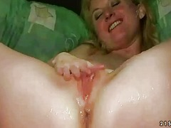 Grandma and two guys pissing and fucking