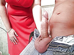 Keez Movies - Huge titted mother-in-law helps him cum