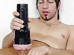 Solo twink huge hammer and cum