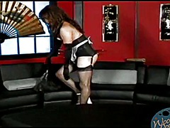 Tube8 - Dominatrix forces him to cum in a maid uniform
