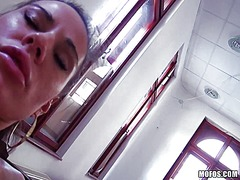 Doggystyle fuck with a hot receptionist