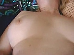 Wife orgasms whilst hubby jerks off o...